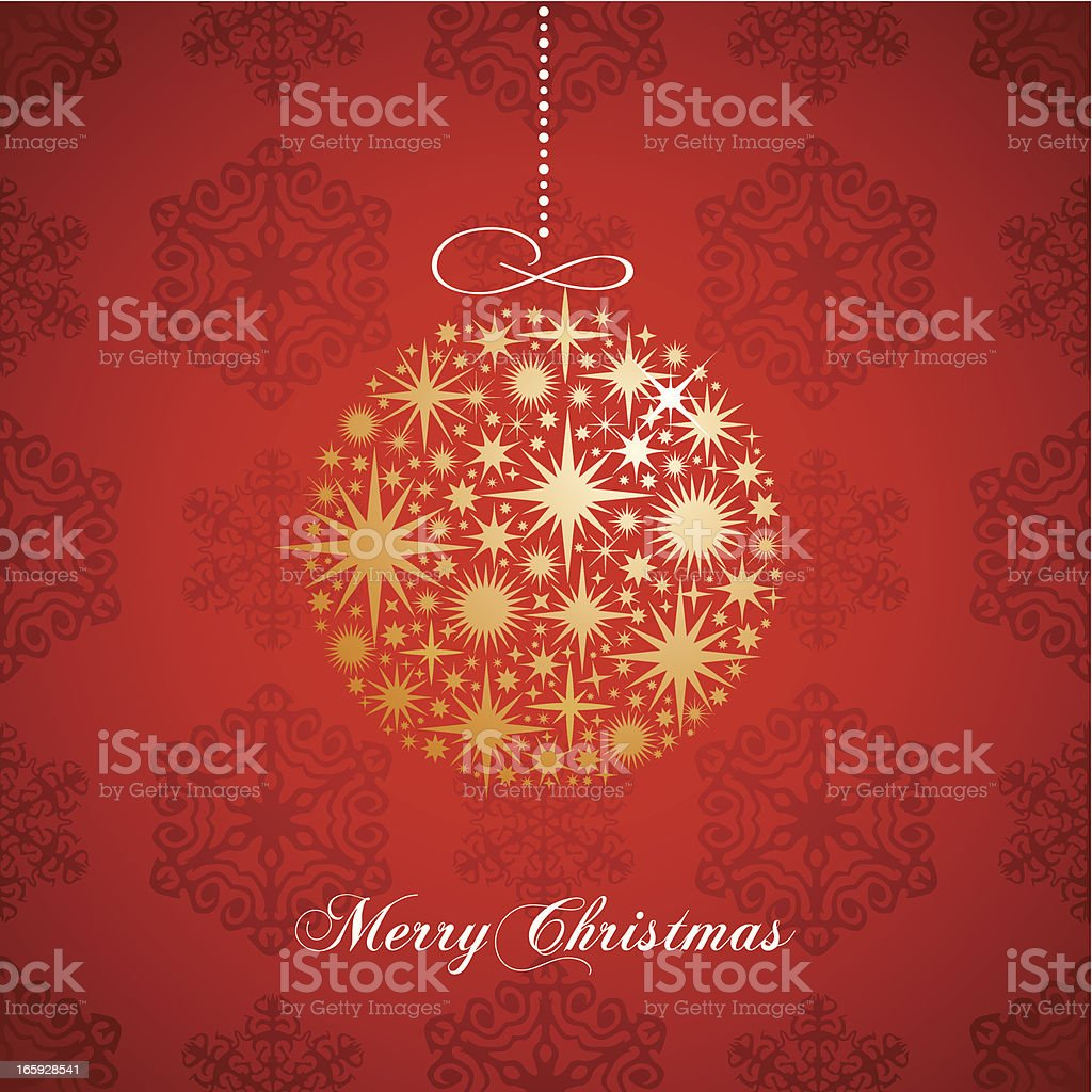 Christmas greeting card with gold ball royalty-free christmas greeting card with gold ball stock vector art & more images of backgrounds
