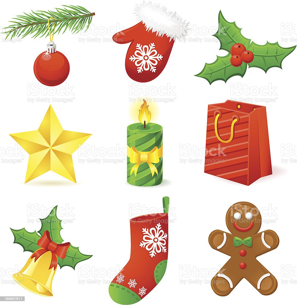 Christmas icon collection royalty-free stock vector art