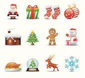 Elegant christmas icon can beautify your designs & graphic