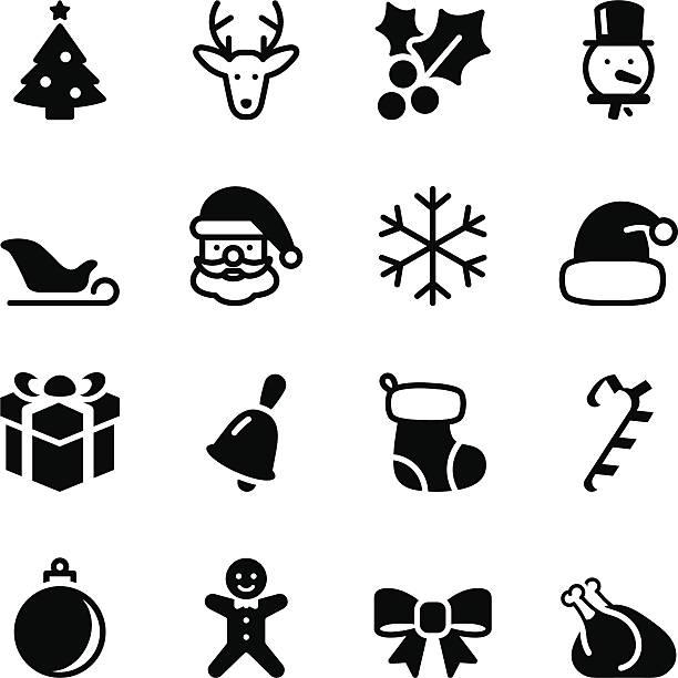 stockillustraties, clipart, cartoons en iconen met christmas icons - chicken bird in box