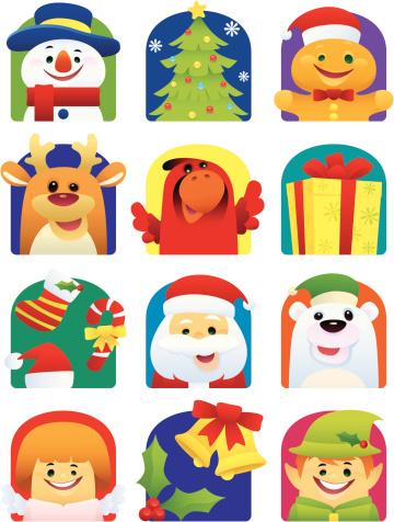 Ícones De Natal - Arte vetorial de stock e mais imagens de Adulto