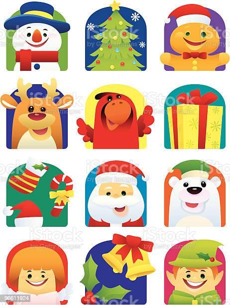 Weihnachtssymbole Stock Vektor Art und mehr Bilder von Alter Erwachsener