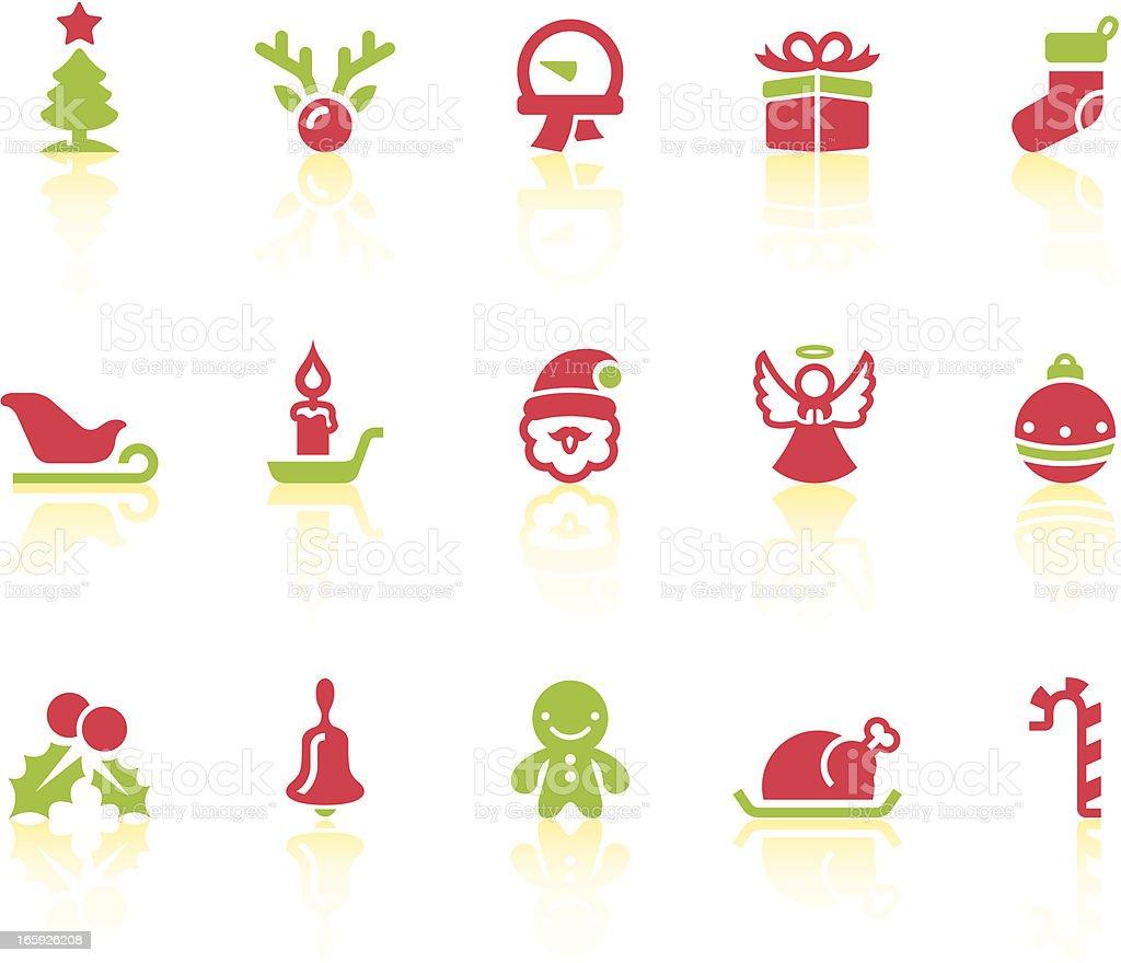 christmas icons simple series stock vector art 165926208 istock
