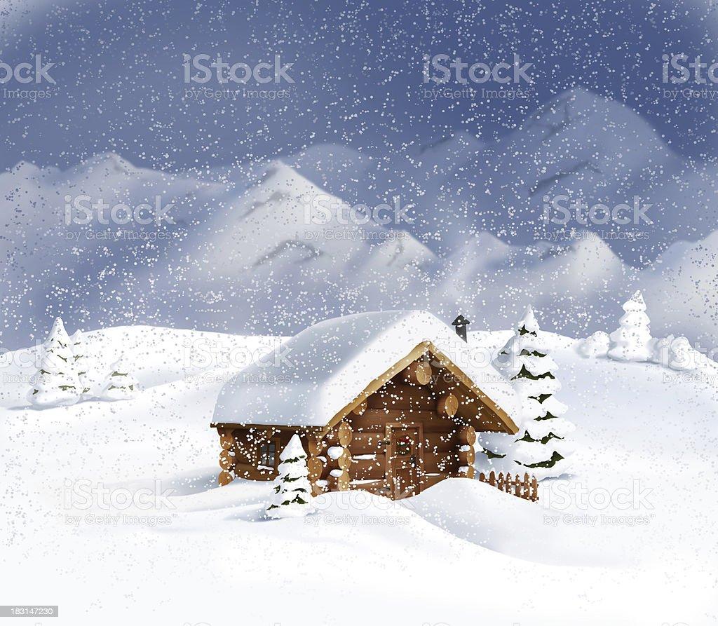 Immagini Di Natale Paesaggi.Paesaggio Di Natale Con Neve Alberi Di Pino Immagini