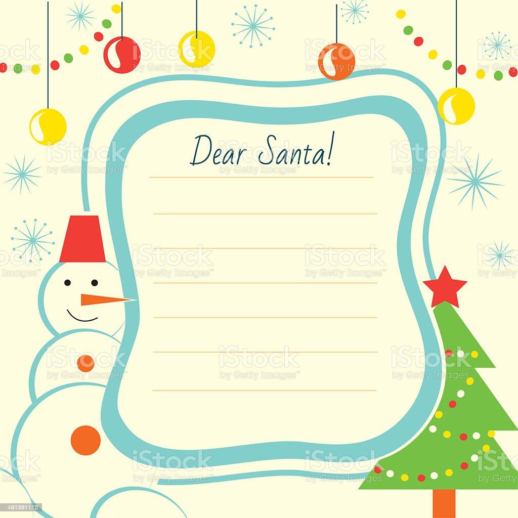 Weihnachten Brief Vorlage Zu Santa Claus Für Print Oder Website Auf