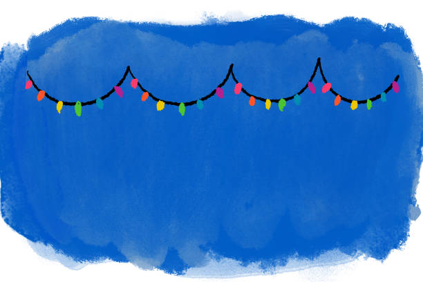 Christmas Lights Background Christmas Lights Background with room for text kathrynsk stock illustrations