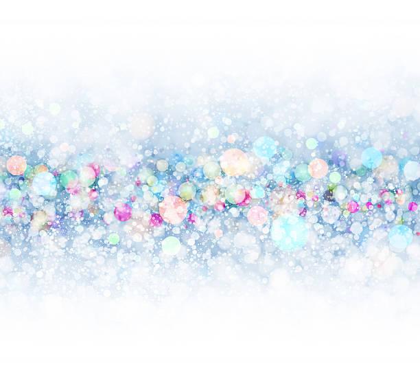 Christmas lights background vector art illustration