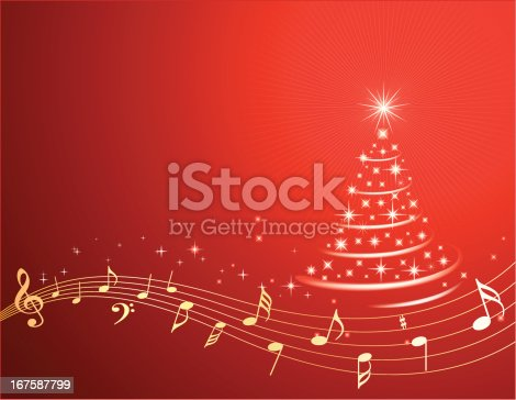 Christmas Music Background.Christmas Music Background Stock Vector Art More Images Of