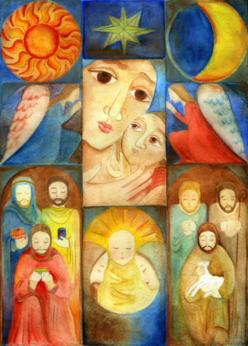 Christmas Nativity Collage