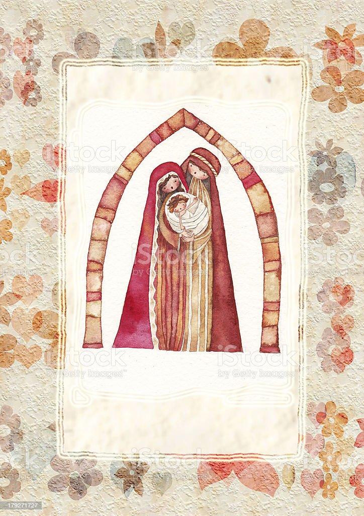 Christmas nativity scene royalty-free stock vector art