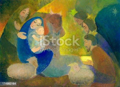 istock Christmas Nativity Scene with Wise Men 174983164