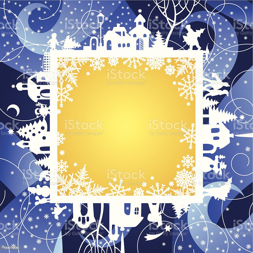 Christmas & New Year's frame royalty-free stock vector art