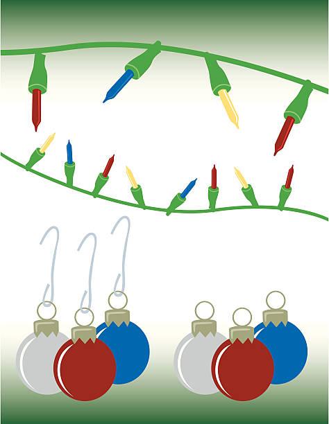 Christmas Ornaments vector art illustration