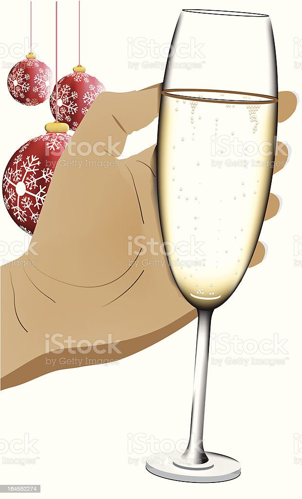 Christmas party - cheers royalty-free stock vector art