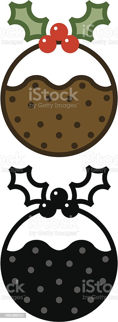 Christmas pudding. royalty-free christmas pudding stock vector art & more images of berry fruit