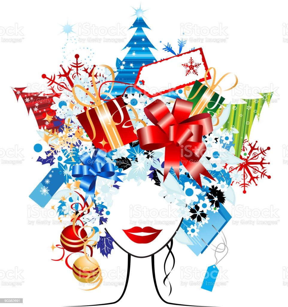 Christmas shopping royalty-free christmas shopping stock vector art & more images of abstract