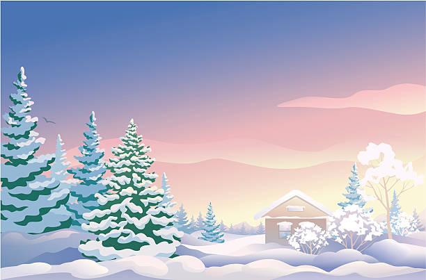 bildbanksillustrationer, clip art samt tecknat material och ikoner med christmas sunrise - bildteknik