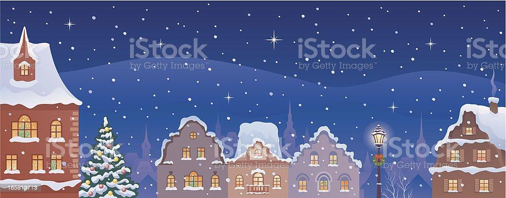 Christmas town banner royalty-free stock vector art