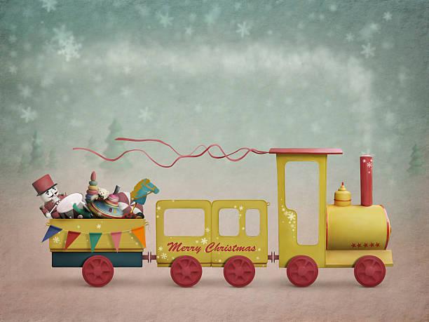 illustrazioni stock, clip art, cartoni animati e icone di tendenza di treno di natale - christmas movie