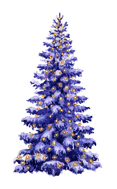 Best Purple Christmas Tree Illustrations Royalty Free Vector