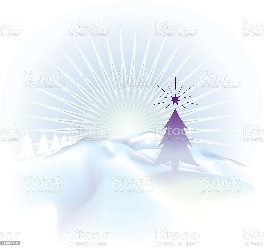Christmas tree in snow royalty-free christmas tree in snow stock vector art & more images of backgrounds