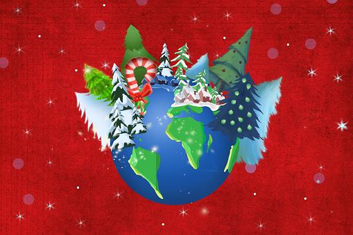 Christmas tree on planet Earth
