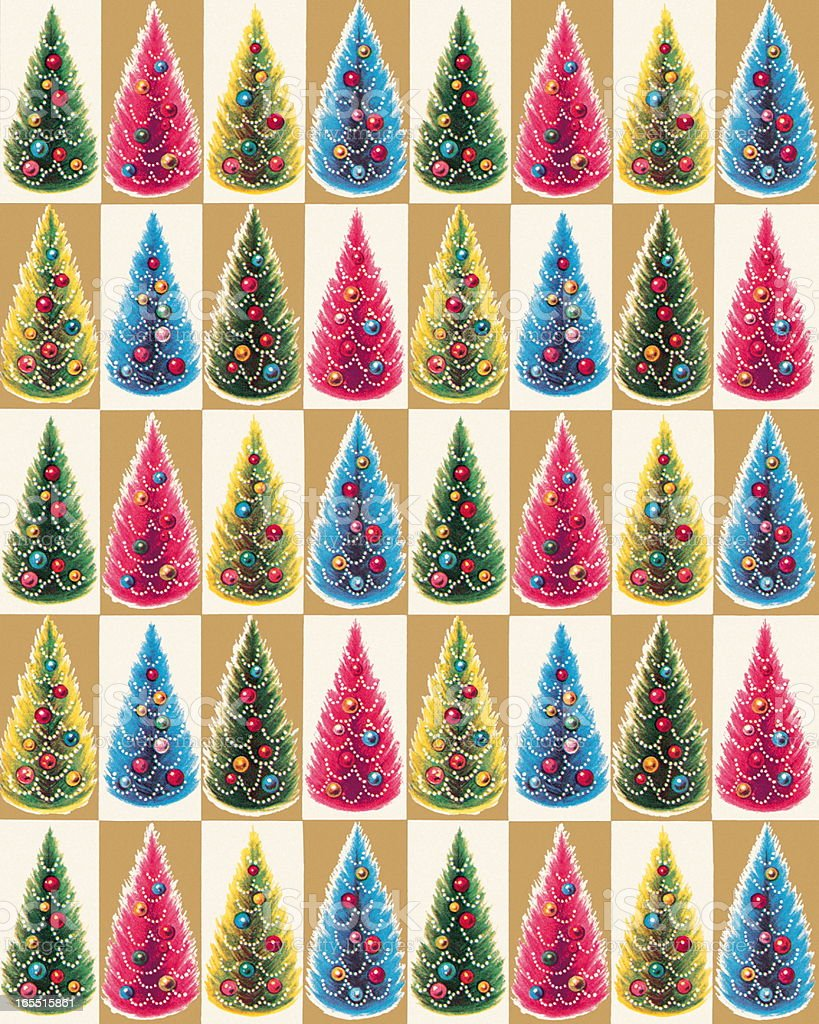 Christmas Tree Pattern royalty-free christmas tree pattern stock vector art & more images of backgrounds