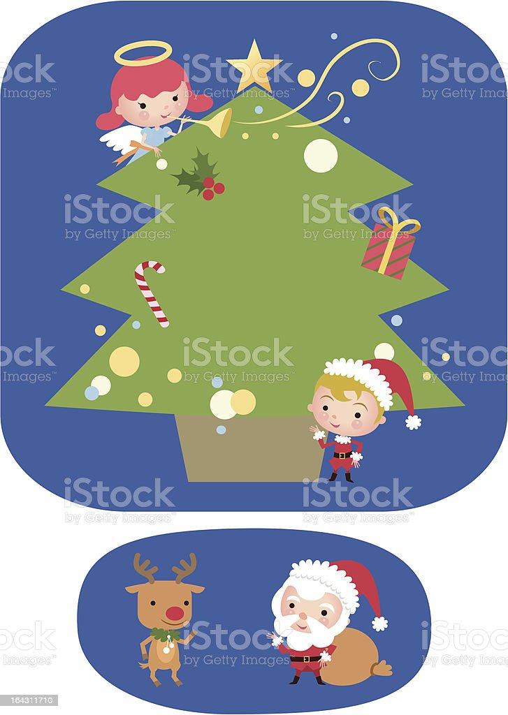 christmas tree-board royalty-free christmas treeboard stock vector art & more images of angel