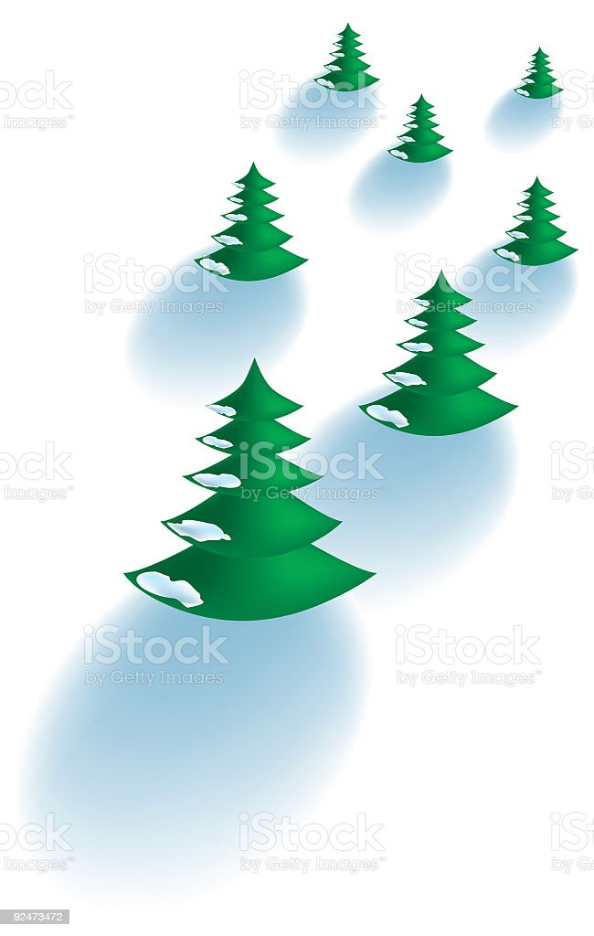 christmas trees royalty-free christmas trees stock vector art & more images of blizzard