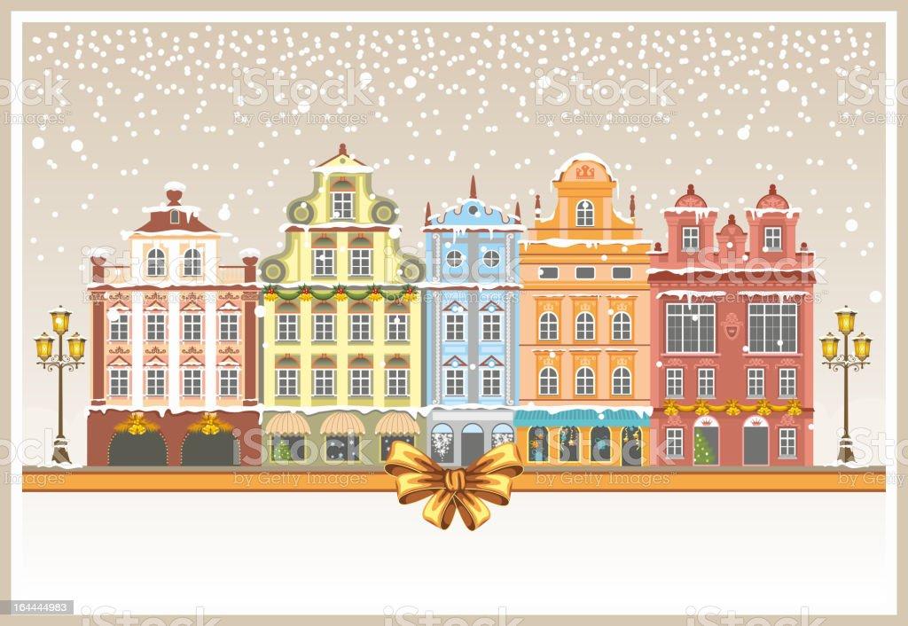 Christmas urban landscape royalty-free stock vector art