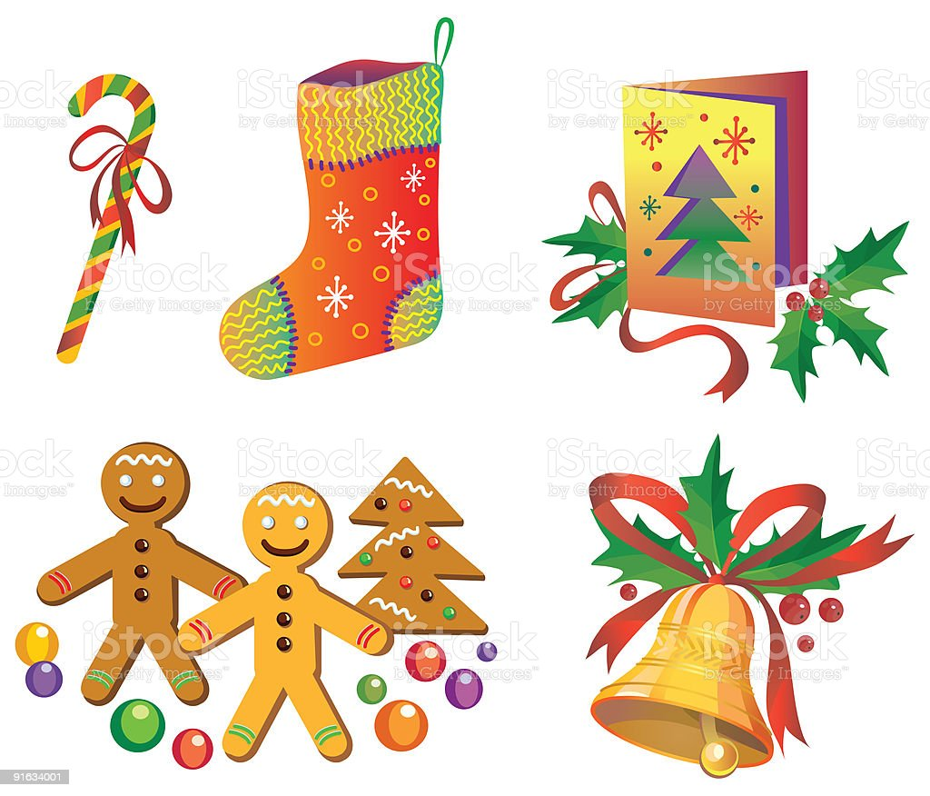 Christmas vector icons royalty-free stock vector art