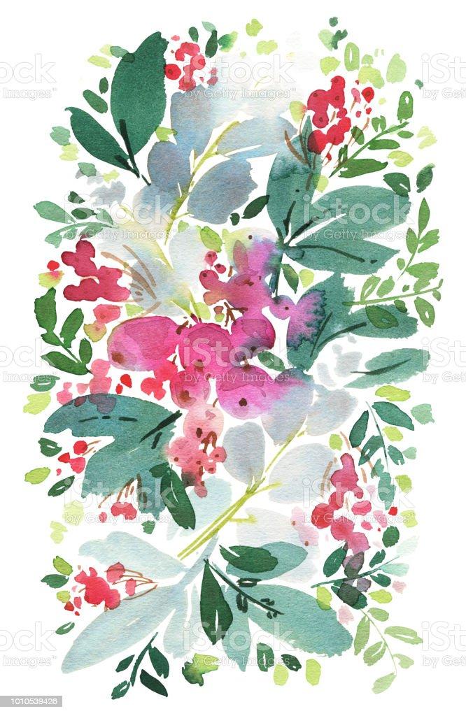 Weihnachten Aquarell Postkarte Stock Vektor Art Und Mehr