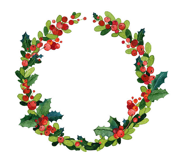 Royalty Free Christmas Wreath Clip Art, Vector Images ...