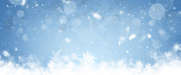 クリスマスワイド背景 - 雪景色点のイラスト素材/クリップアート素材/マンガ素材/アイコン素材