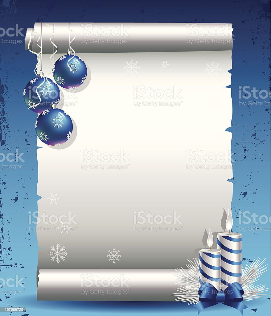 Christmas Wish List vector art illustration