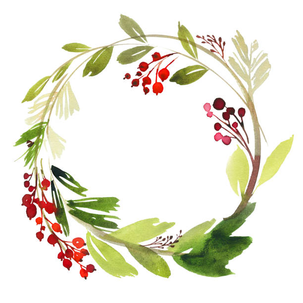Best Christmas Wreath Illustrations, Royalty-Free Vector ...