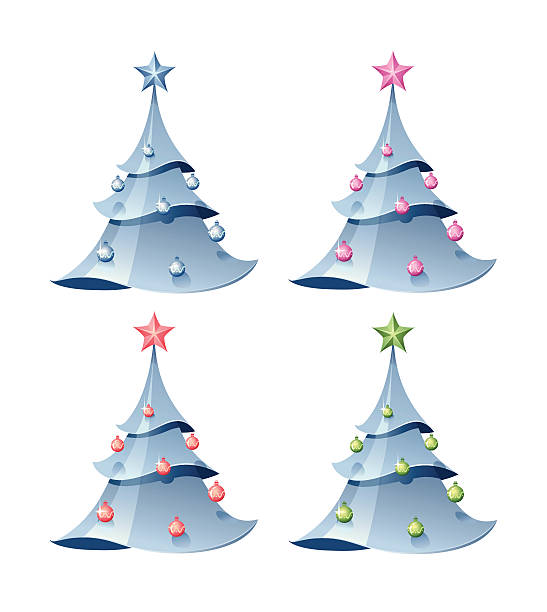 Christmass Fir-tree vector art illustration