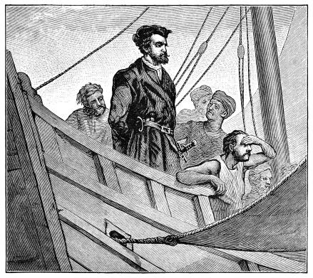 Christopher Columbus on board ship