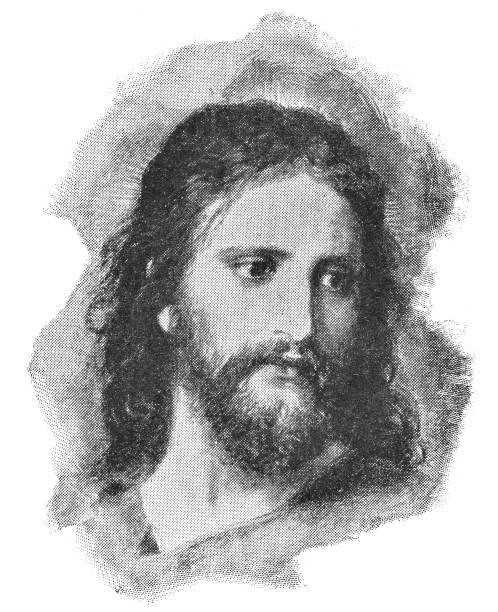 ilustrações de stock, clip art, desenhos animados e ícones de christ's image by heinrich hofmann - 19th century - jesus cristo