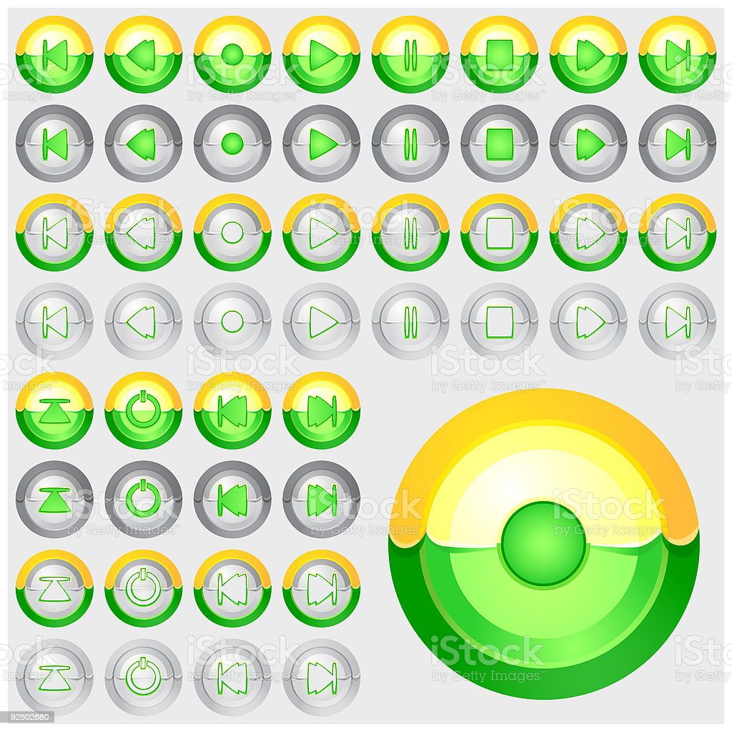 Chrome Buttons 04 royalty-free chrome buttons 04 stock vector art & more images of arranging