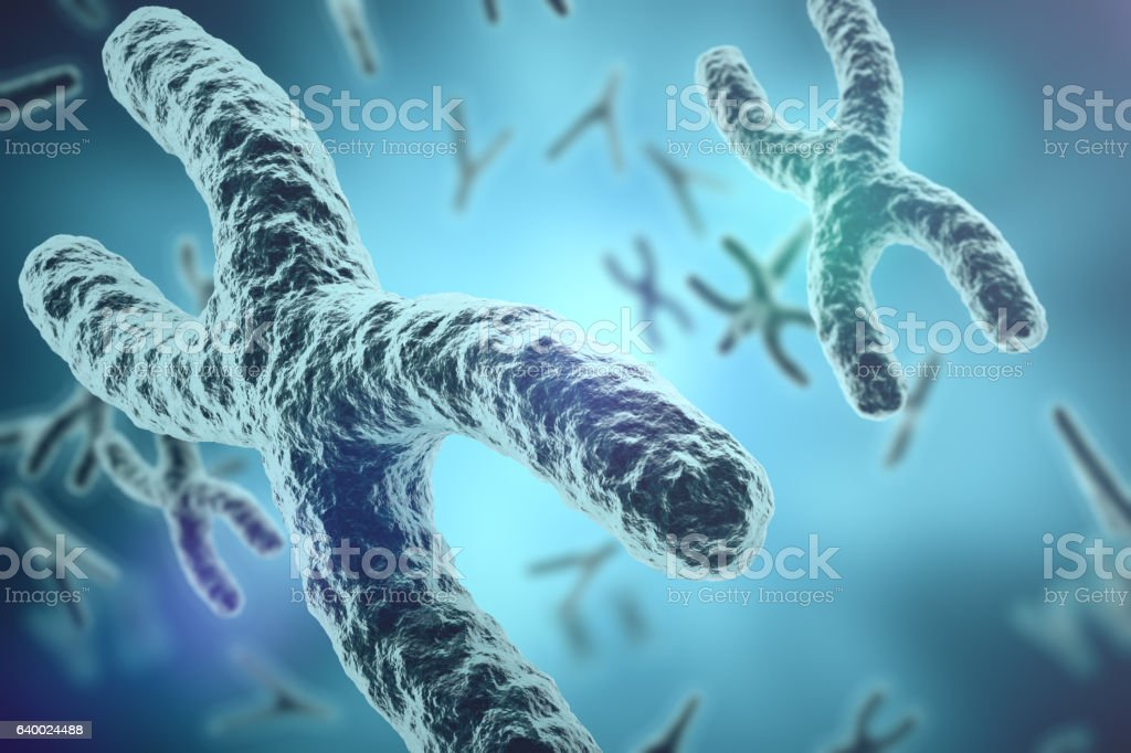 Chromosomes on scientific background. Life and biology, medicine  concept wit vector art illustration