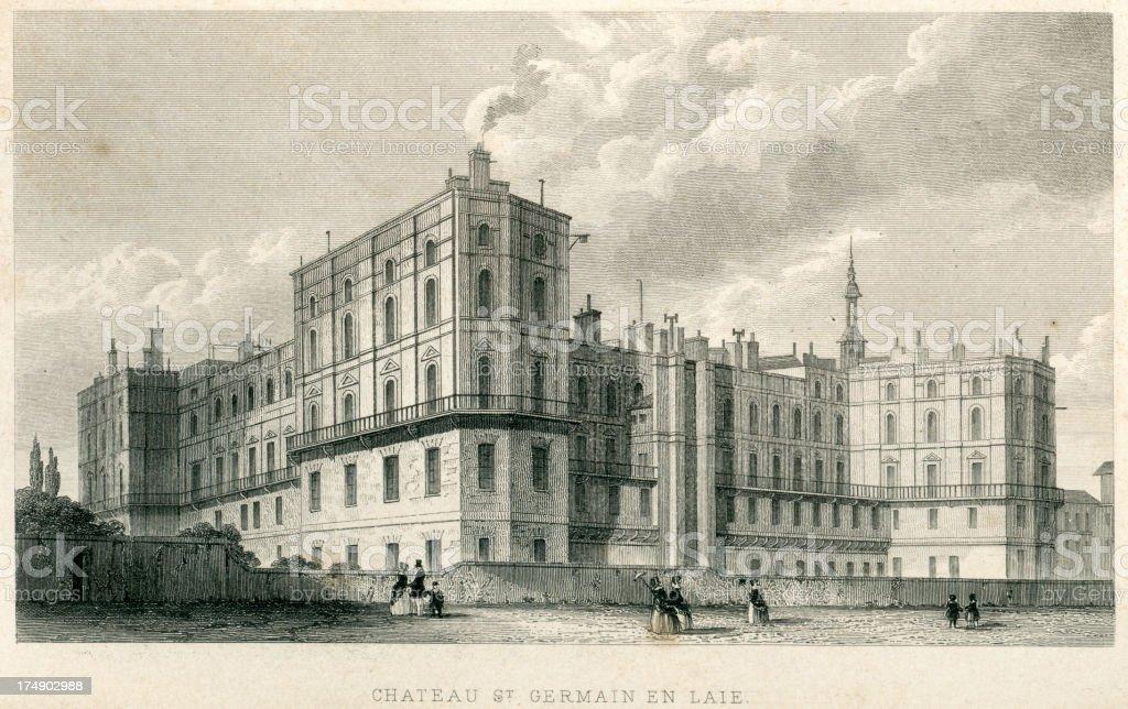 Château de Saint-Germain-en-Laye, Paris royalty-free château de saintgermainenlaye paris stock vector art & more images of 19th century