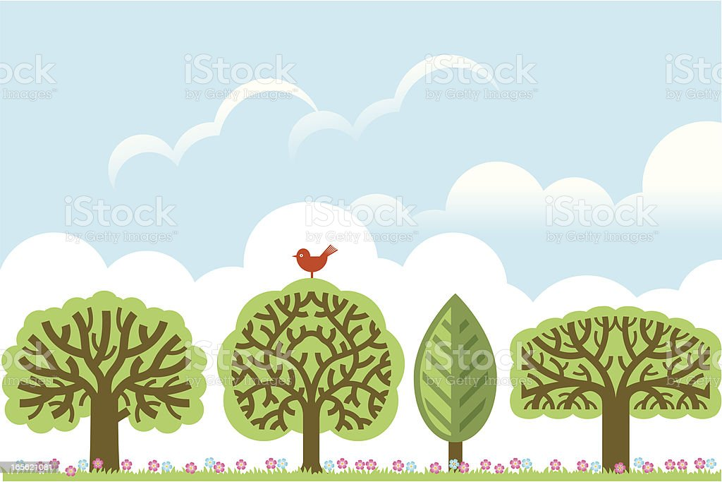 Chunky landscape royalty-free stock vector art