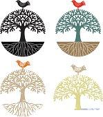 Chunky tree and bird