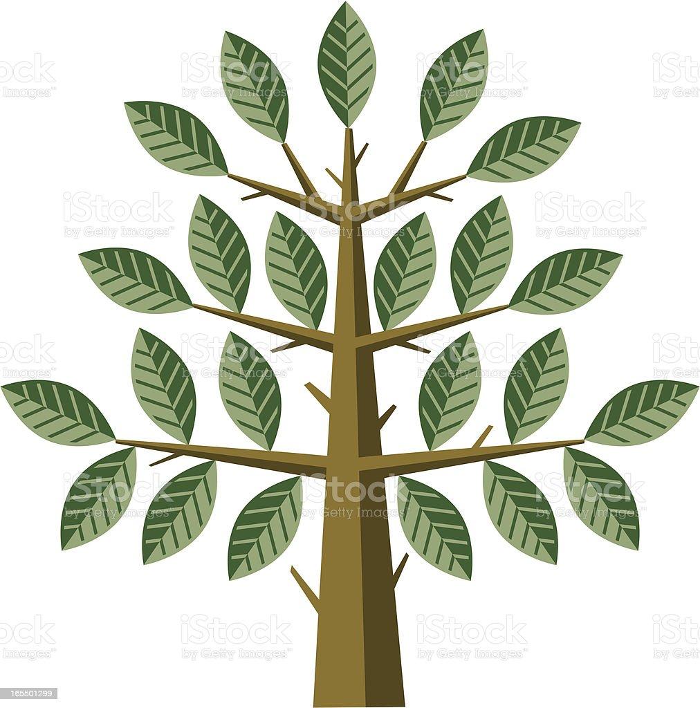 Chunky tree vector art illustration