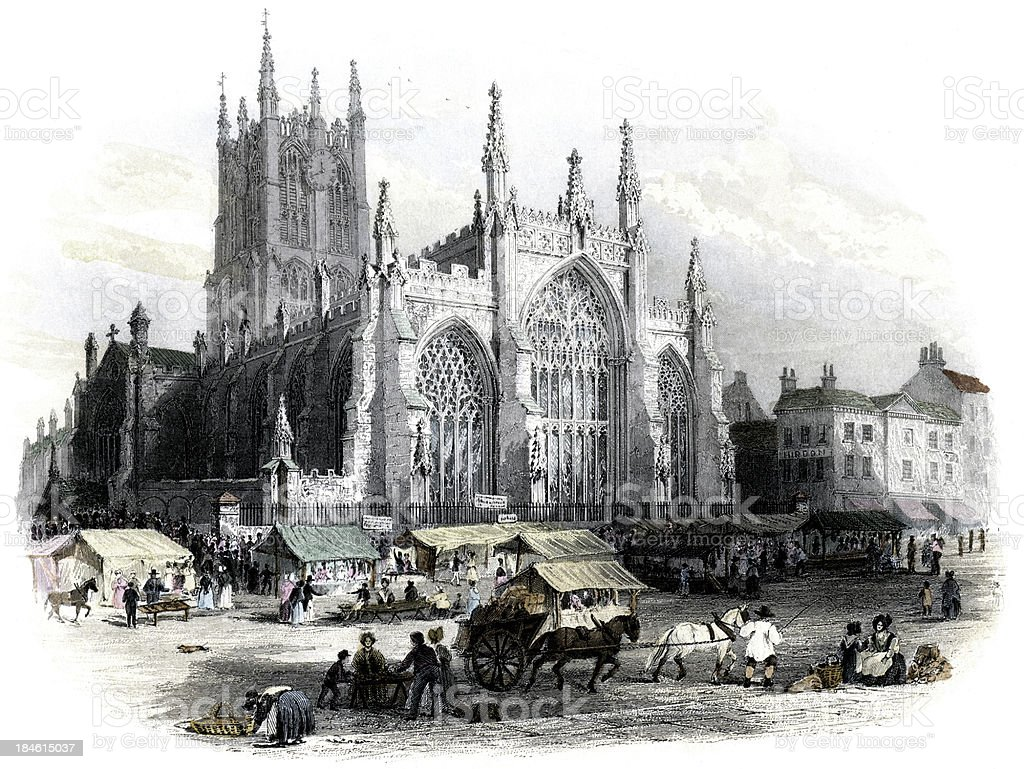 Church of the Holy Trinity, Hull, 1842 (engraved illustration) royalty-free church of the holy trinity hull 1842 stock vector art & more images of 1840-1849