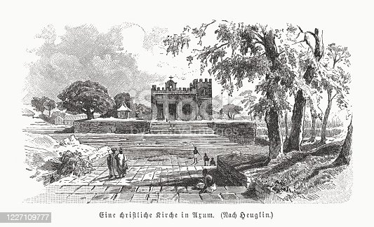 istock Church Our Lady Mary of Zion, Aksum, Ethiopia, published 1891 1227109777