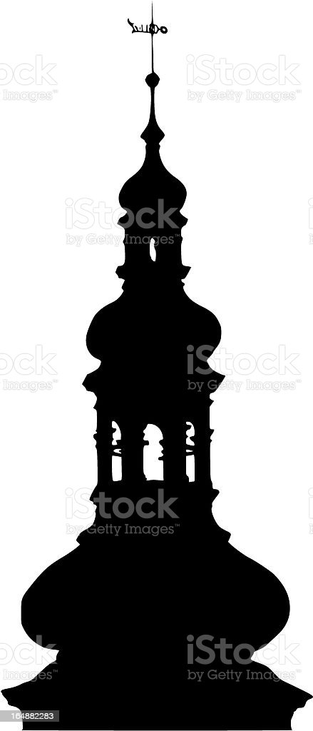 Church tower royalty-free stock vector art