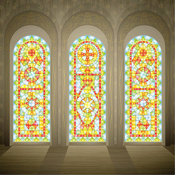 Royalty Free Stained Glass Window Clip Art, Vector Images ...