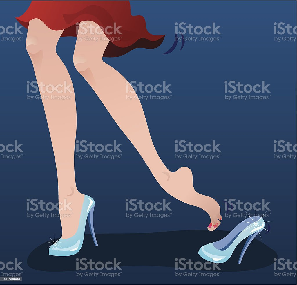 Cinderella's shoes - Royalty-free Barefoot stock vector